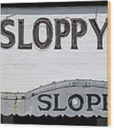 Sloppy Joes Key West Wood Print
