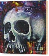 Sloppy Skull Wood Print