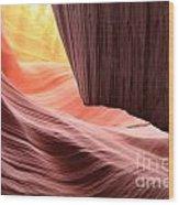 Slot Canyon Sun Wood Print