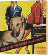 Sloughi Art - Love Is My Profession Movie Poster Wood Print