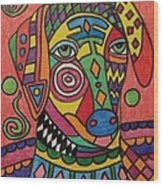 Sloughi Dog Wood Print