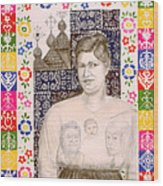 Slovak Grandmother Wood Print by Diana Perfect