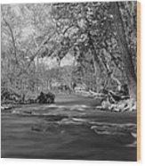 Slow Down At The River Wood Print