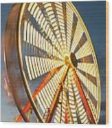 Slow Down The Ferris Wheel Wood Print