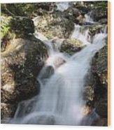 Slow Shutter Waterfall Scotland Wood Print