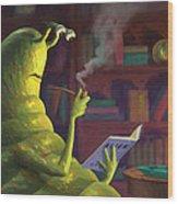 Sluggo's Scary Book   Wood Print