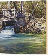 Sluice Gate At Alley Spring Wood Print