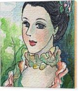 Sm003 Young Pompadour Wood Print