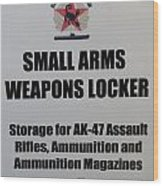 Small Arms Signage Russian Submarine Wood Print