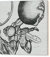 Small Ball Dunking Wood Print