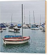 Small Boats At Lyme Regis Harbour Wood Print