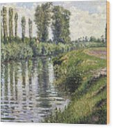 Small Branch Of The Seine At Argenteuil Wood Print
