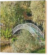 Small Bridge In The Park Wood Print