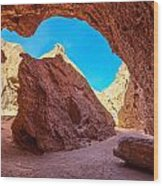 Small Canyon In Chile Wood Print