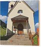 small church in Penia Wood Print