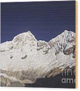 Small Climber Big Peaks Wood Print