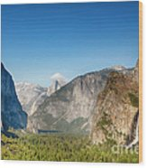 Small Clouds Over The Half Dome Wood Print by Jane Rix