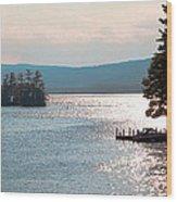 Small Dock On Lake George Wood Print