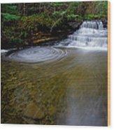Small Falls Pool Swirl I Wood Print