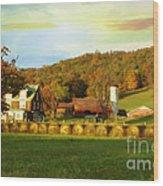 Small Farm Wood Print