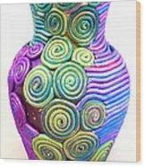 Small Filigree Vase Wood Print by Alene Sirott-Cope