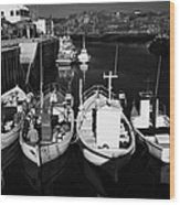 small fishing boats in bunbeg harbour county Donegal Republic of Ireland Wood Print
