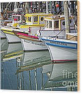 Small Fishing Boats Of San Francisco  Wood Print