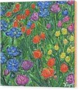 Small Flowers Wood Print