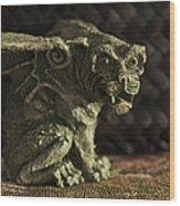 Small Gargoyle Or Grotesque Wood Print