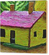 Small-house- Painting Wood Print