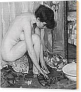 Small Nude Painting By Albert Worcester C. 1910 Wood Print