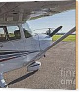 Small Plane In Private Airport Wood Print