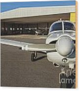 Small Planes In Private Airport Wood Print