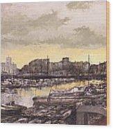 Small-port Santander Wood Print
