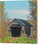 Small Private Country Bridge Wood Print