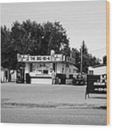 small roadside diner leader Saskatchewan Canada Wood Print