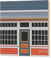 Small Store Front Entrance Colorful Wooden House Wood Print
