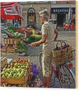 Small Town Market Wood Print