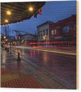Small Town Ohio Christmas Wood Print