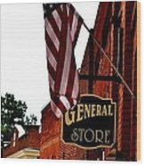 Small Town Patriotism Wood Print