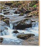Small Waterfall In Western Pennsylvania Wood Print