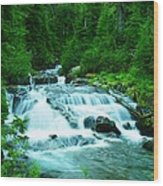 Small Waterfall On The Paradise River Wood Print