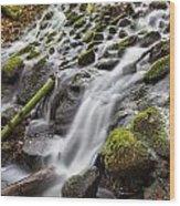 Small Waterfalls In Marlay Park Wood Print
