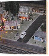 Small World - A Smalltown Holiday Wood Print