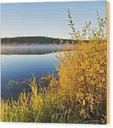 Smallfish Lake In Porcupine Hills Wood Print