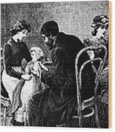 Smallpox Vaccination, 1883 Wood Print