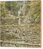 Smalls Falls In Autumn Western Maine Wood Print