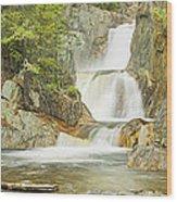Smalls Falls In Western Maine Panorama Wood Print