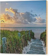 Smathers Beach Sunrise Wood Print