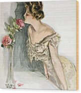 Smelling The Roses Wood Print